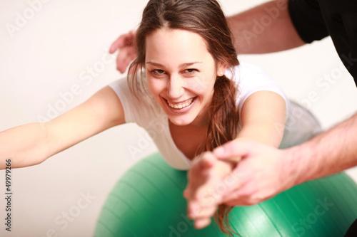 Leinwandbild Motiv Physiotherapie