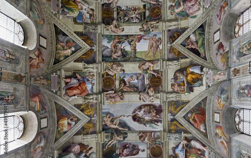 Leinwandbild Motiv sixtinische Kapelle Rom