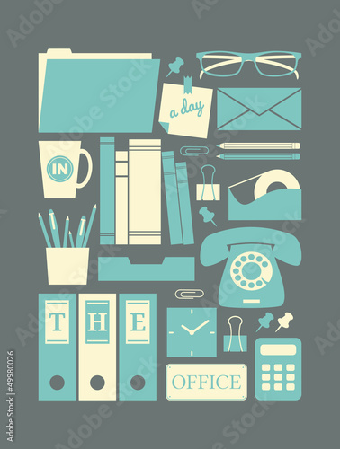 Retro Office Icons
