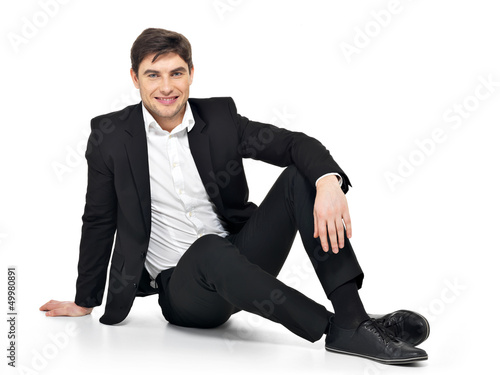 businessman  sitting on the floor