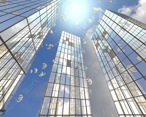 Edificios con Simbolos Euro