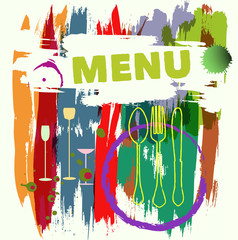 Menu card design, vector illustration