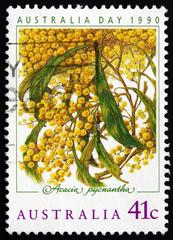 Postage stamp Australia 1990 Golden Wattle, Australia Day