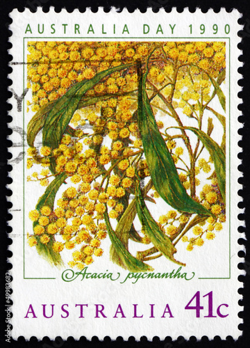 Postage stamp Australia 1990 Golden Wattle, Australia Day