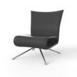 Moderner Sessel isoliert - Schwarz