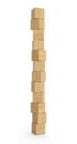 Fototapety Turm aus Holzklötzen isoliert 2