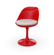 Retro Design Stuhl - Rot Weiß