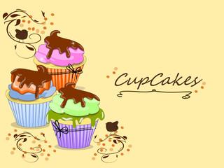 Cupcake, Muffin Karte