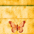 golden butterfly  on grunge background