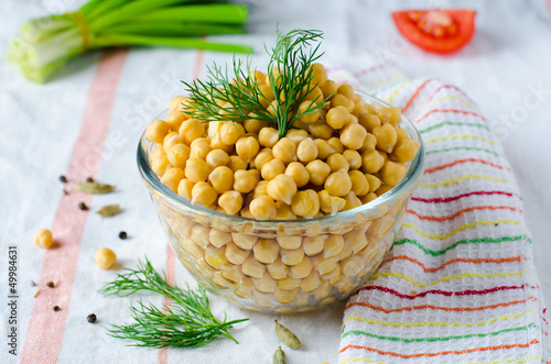 Boiled chickpeas with spices