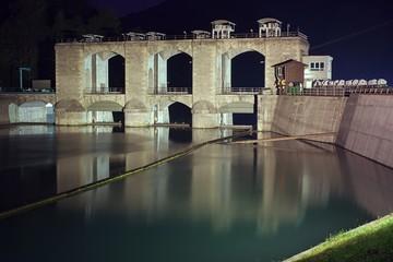 Dam on river Soca (Isonzo), near Kanal, Slovenia