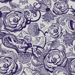 Abstract floral vintage seamless wallpaper