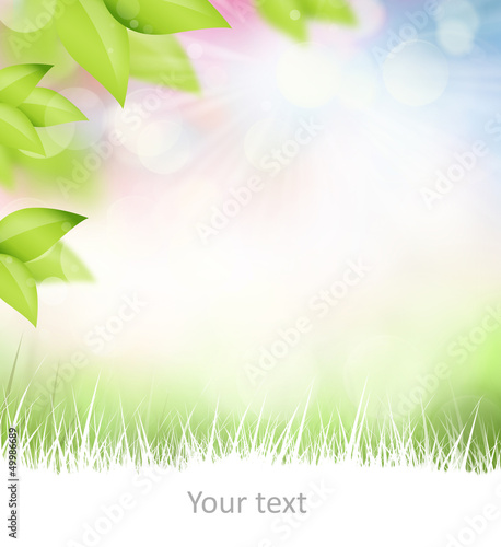 Natural spring and summer background with selective focus and co