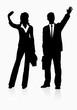 silhouette  successful businessman