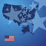 US map stars cover vector