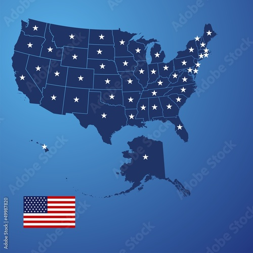 US map stars vector