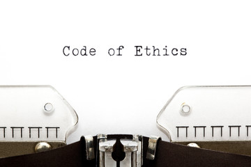 Code of Ethics Typewriter