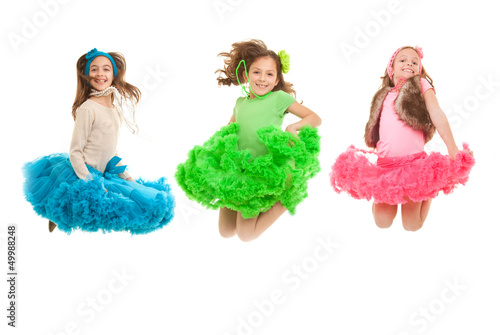 fashion kids jumping
