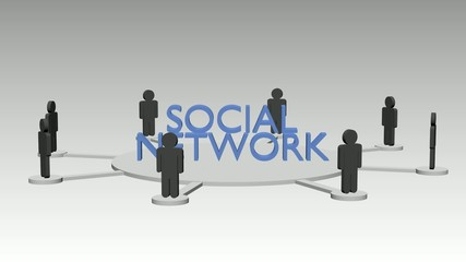 Soziales Netzwerk Animation, schleifbar