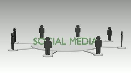 Soziale Medien Animation, schleifbar