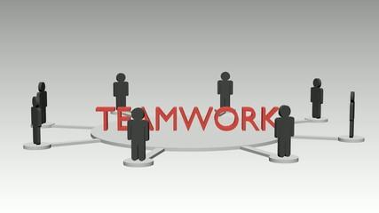 Teamarbeit Animation, schleifbar