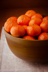Still life with mandarins.