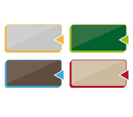 Schaltfläche mit Pfeil in Farbe