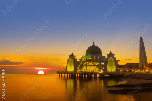 sunset at selat mosque