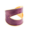 Purple and gold elegant bangle