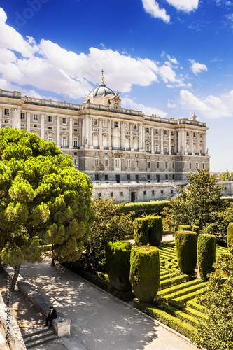 Madrid Royal Palace (Palacio de Oriente), Spain.