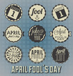 Vector Set: April Fool's Day Labels