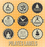 Vector Set: Pilates Labels and Icons