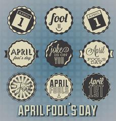Vector Set: April Fool's Day Labels