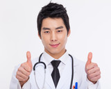 Young Asian doctor close up shot