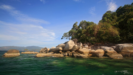 Beautiful island against blue sky near Ko Lipe, Thailand