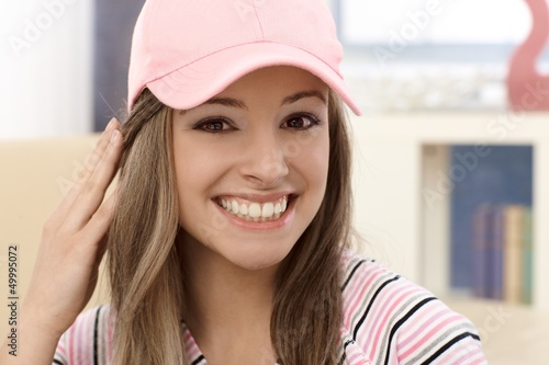 Closeup portrait of attractive girl
