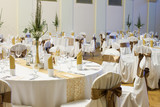 an image of tables setting at a luxury wedding hall - Fine Art prints