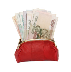 Red wallet.