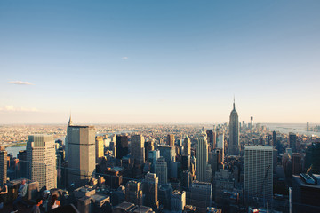 New York City Manhattan skyline view.