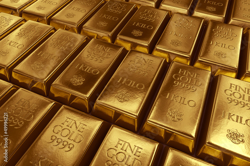 Stacked gold bars