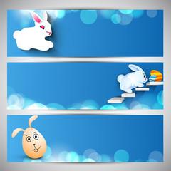 Website header or banner set for Happy Easter.