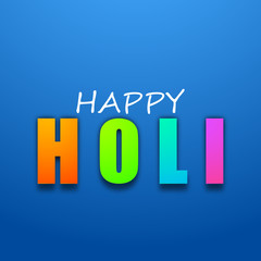 Vector illustration of Indian colorful festival with text Happy