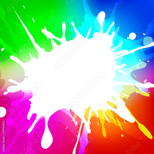Vector illustration of Indian colorful festival Holi with colors