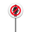 ROAD SIGN ,'NO WOMEN'