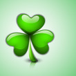 Irish glossy shamrock leave for Happy St. Patrick's Day celebrat