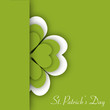 Irish shamrock leaves background for Happy St. Patrick's Day. EP