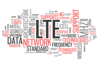 "Word Cloud ""LTE"""