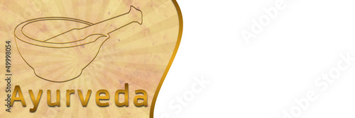 Ayurveda Banner with Brown Grunge
