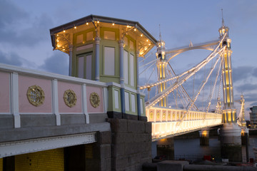 Tollbooth on Albert bridge London