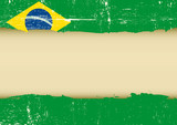 Brazilian scratched flag